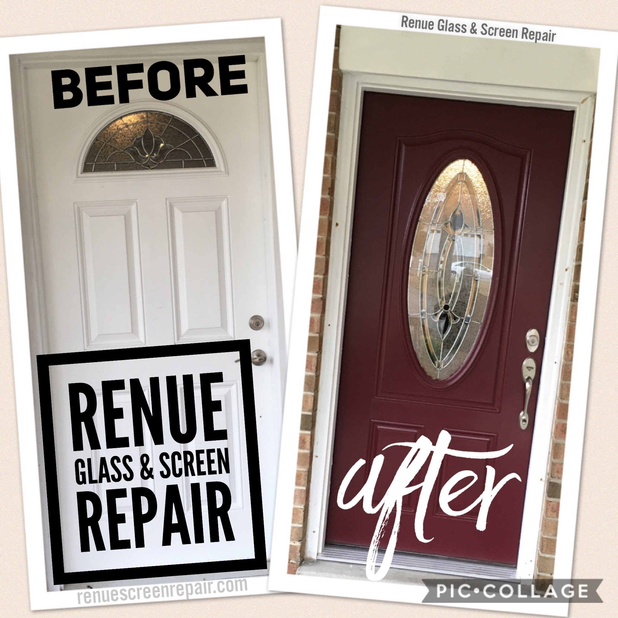 Renue Glass and Screen Repair Front Entryway Door Installation