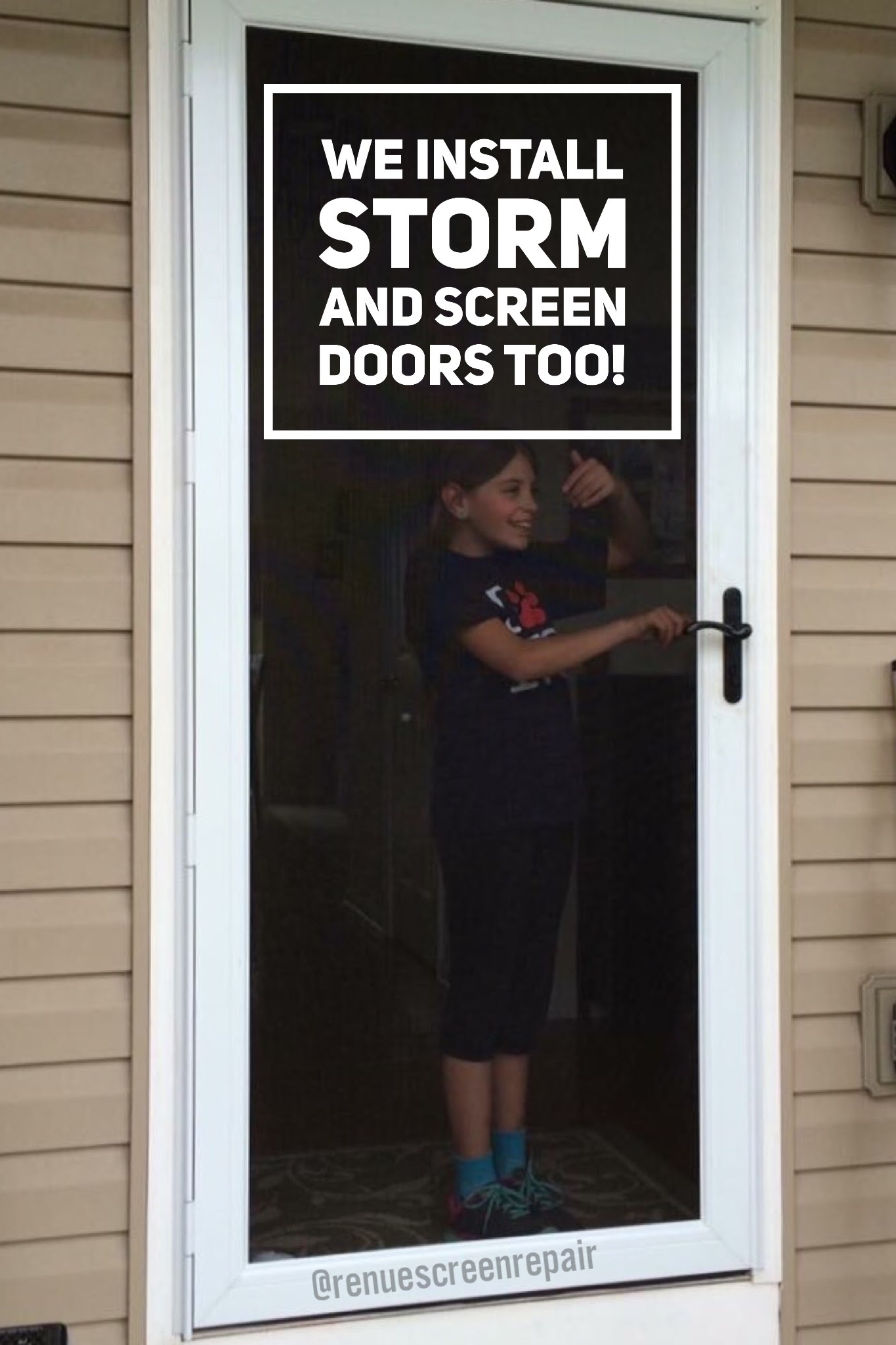Renue Glass and Screen Repair Security Storm Door Pella Larson EMCO Andersen