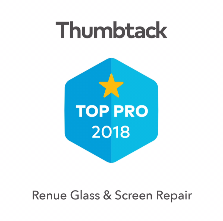 Renue Reviews! - Here are a couple of reviews from satisfied customers on the Thumbtack App:Excellent WorkVery pleased with the sliding door screen repairs and will use Renue again for any future screen repair needs. - JackieThank You!Great Experience fixing broken window. Everything went perfectly - highly recommend and would use again when needed. - Laura