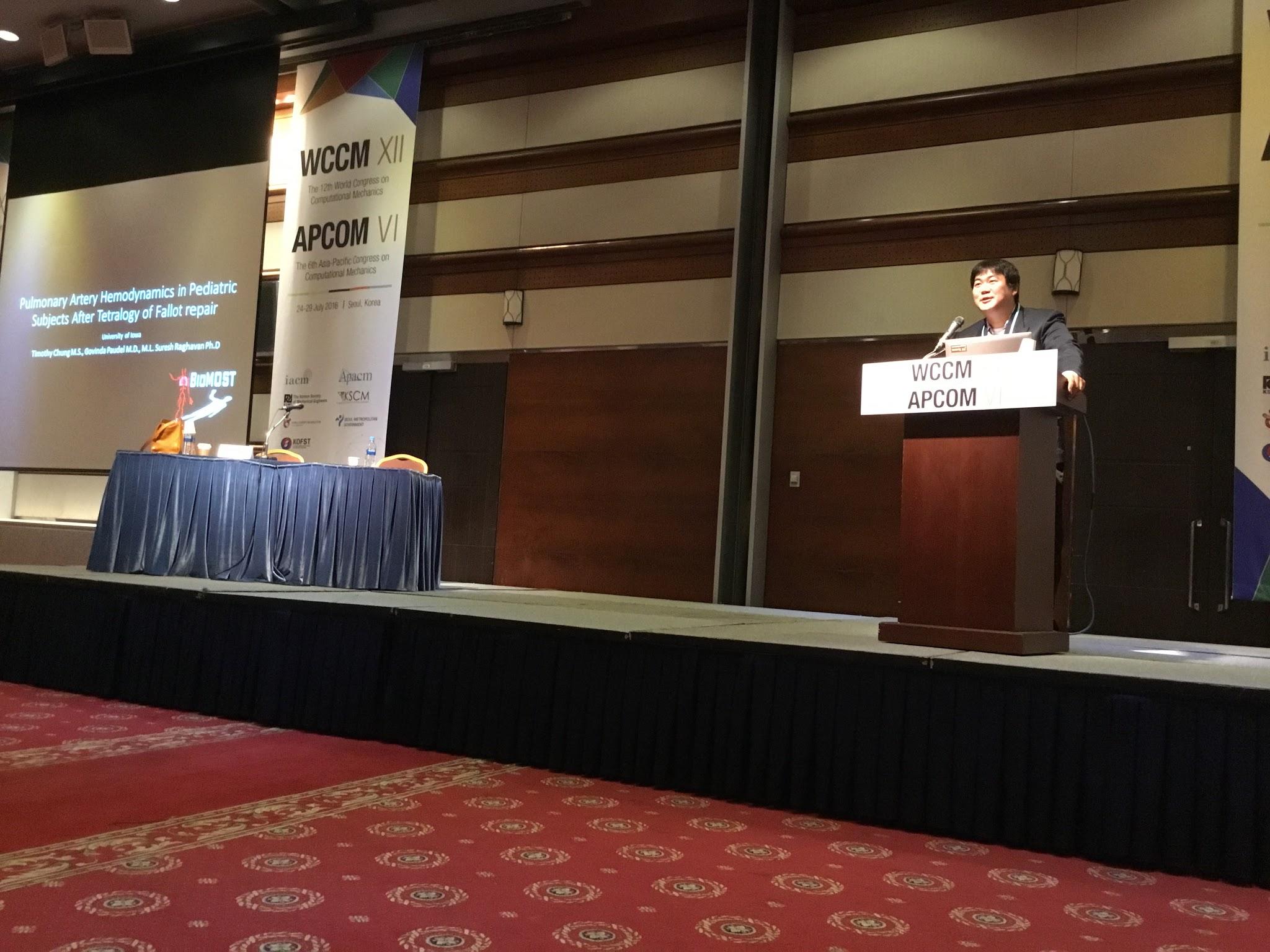 WCCM/APCOM 2016 in Seoul Korea
