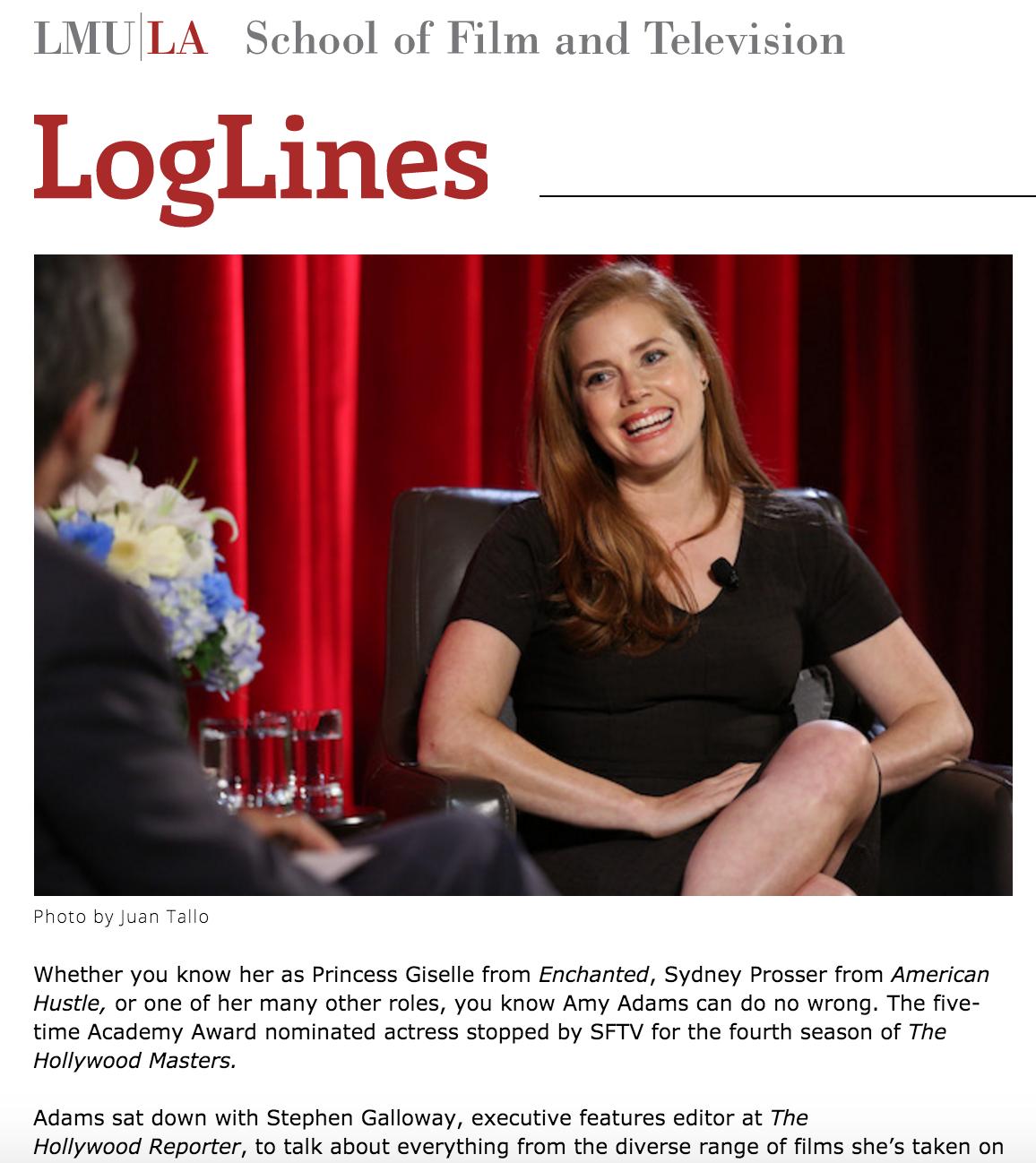 """The Hollywood Master: Amy Adams"" /Amanda Lopez   Loglines"
