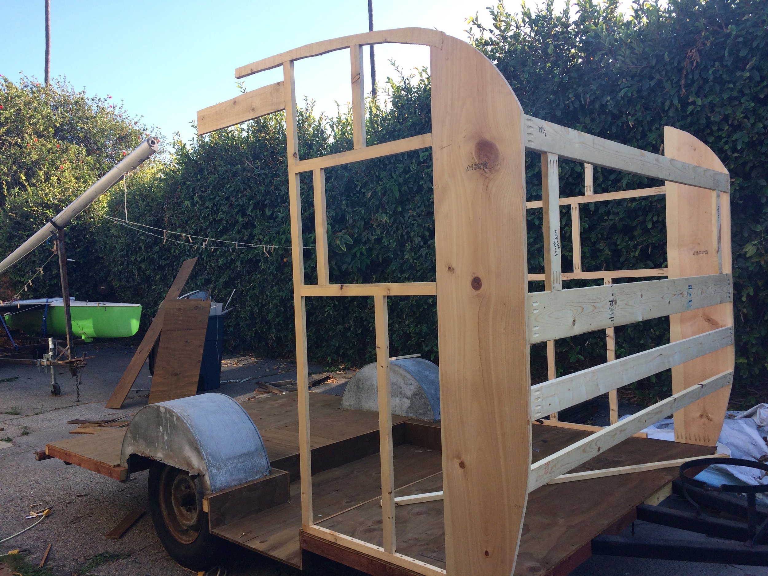 Front of the trailer frame