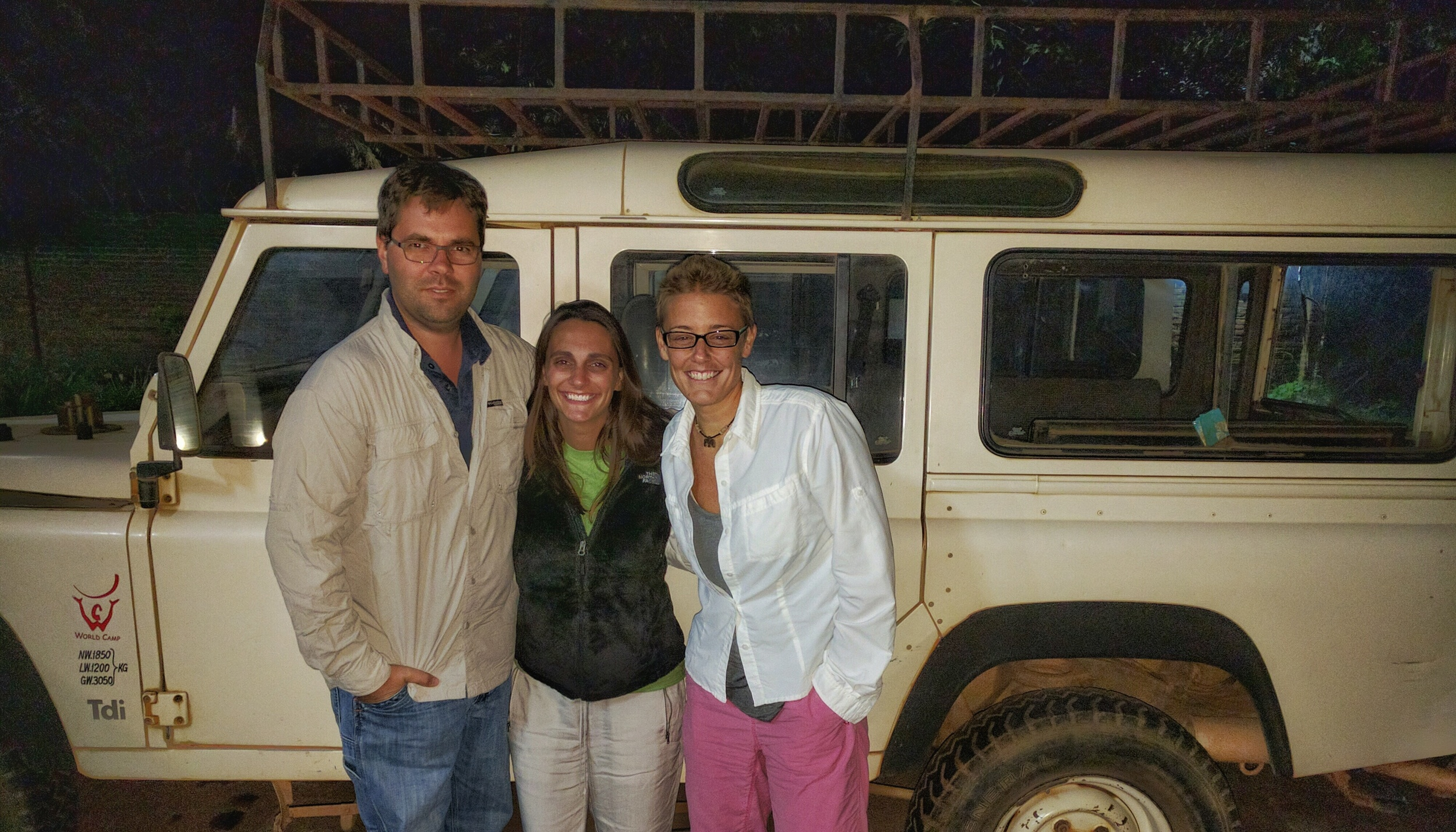 Dr. Amber Newell, Dr. Baker Henson, and Dr. Jenn Mullarkey arrive at the Access Health Africa Hub in Malawi.