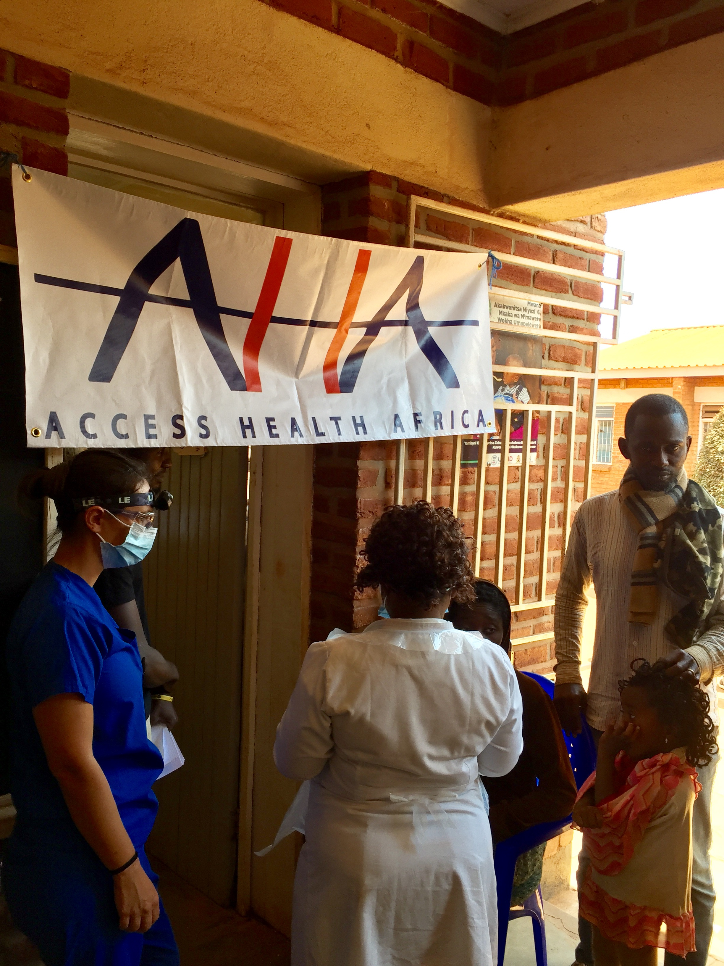 AHA Dental team prepares to hold Dental Clinic at Dzaleka Refugee Camp on July 20, 2017