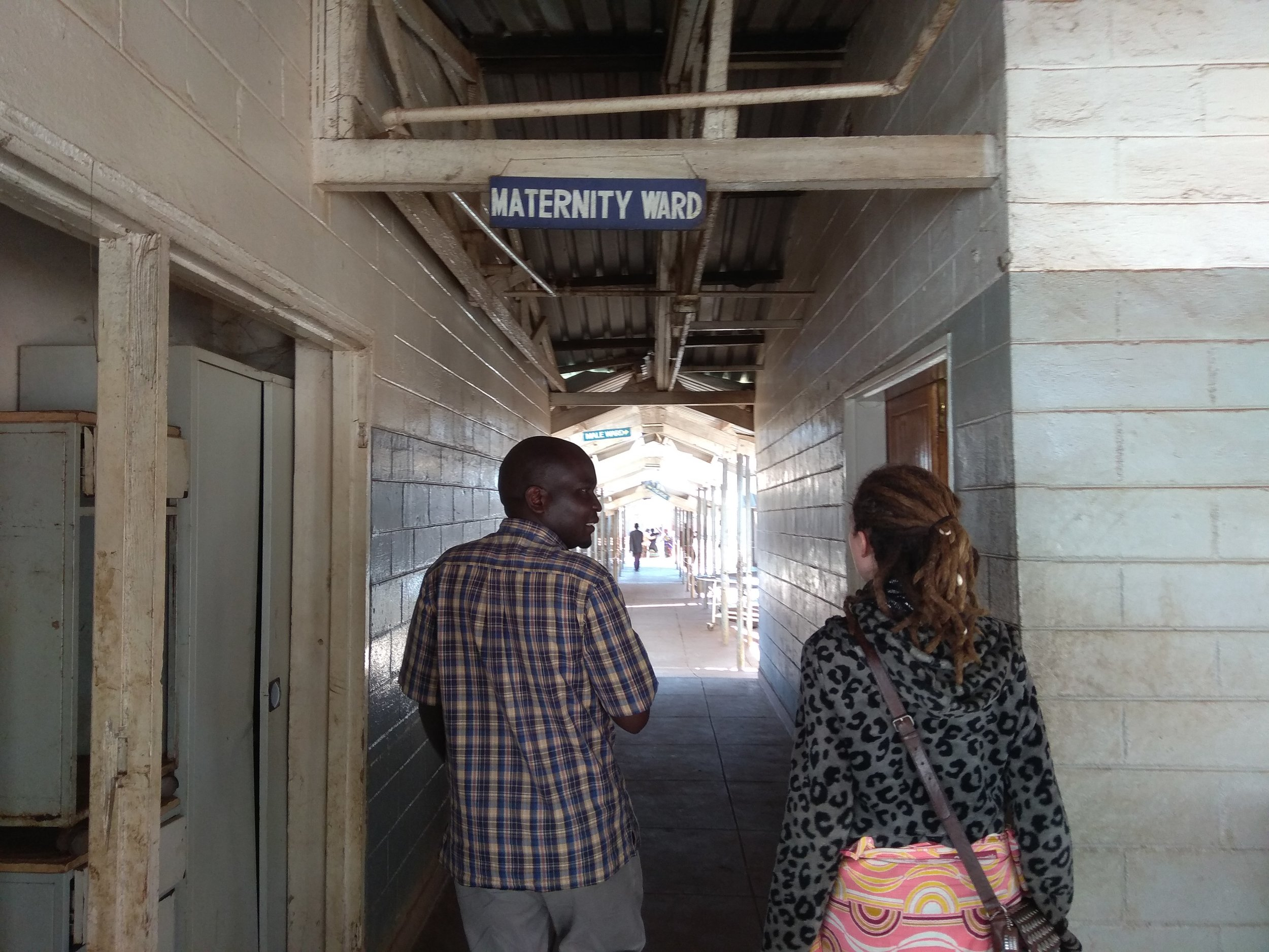 On a tour of Kabudula Community Hospital