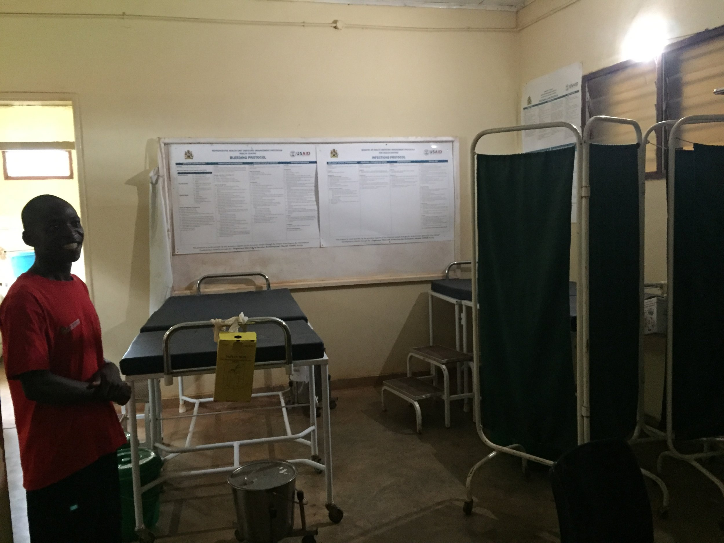 Maternity ward in Malembo Rural Health Center which houses two beds.