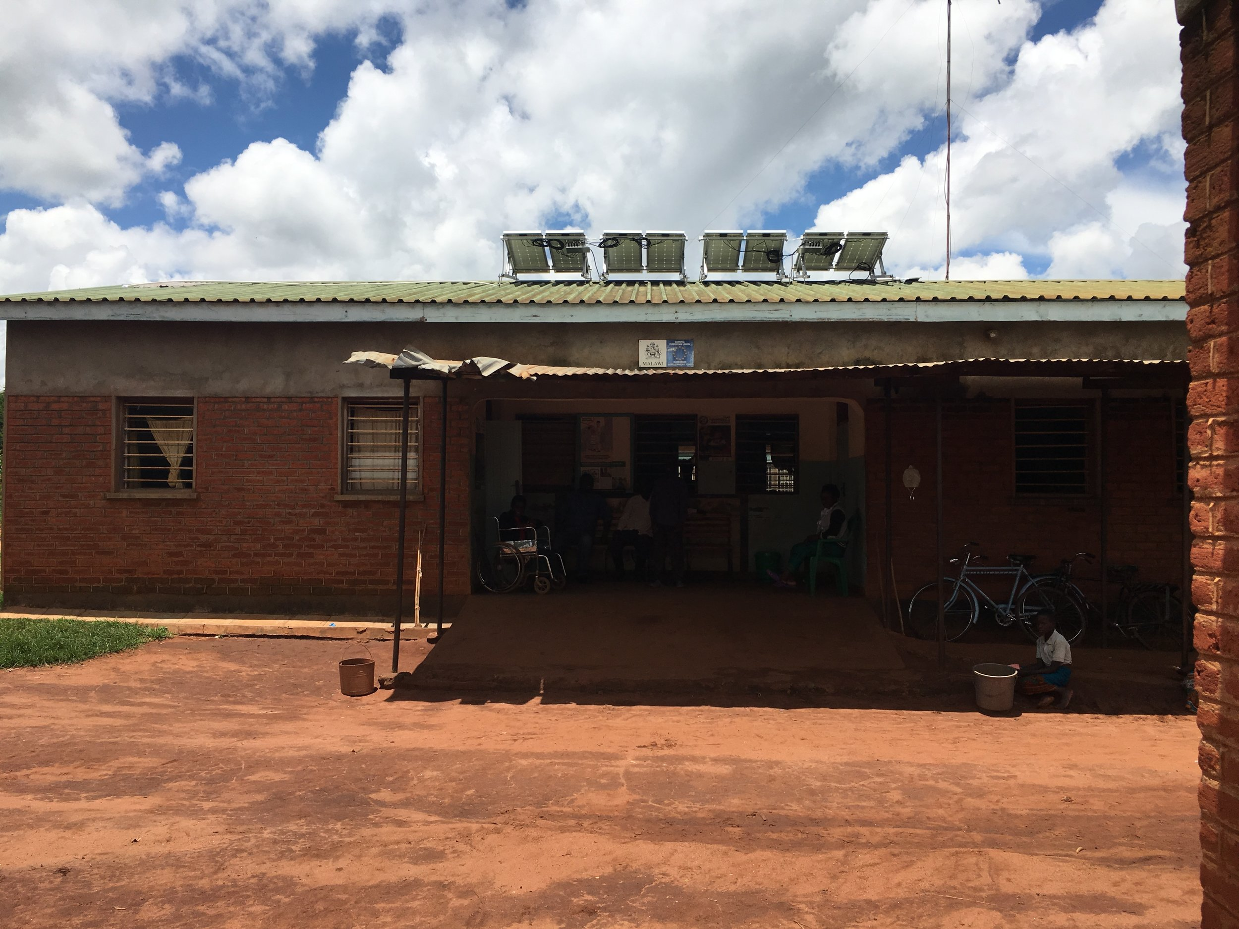 Main entrance of Chilobwe Health Center