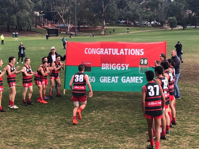 Congratulations Sam Briggs on achieving 150 games - an enormous milestone shared by few.