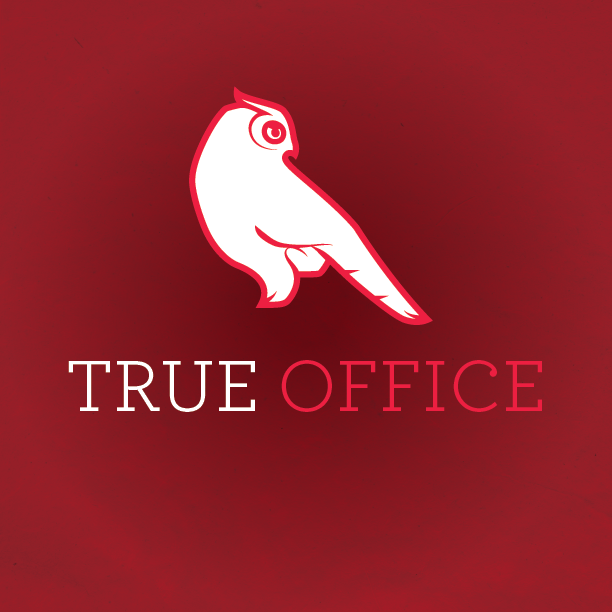 Logo detail, on the primary/red color scheme