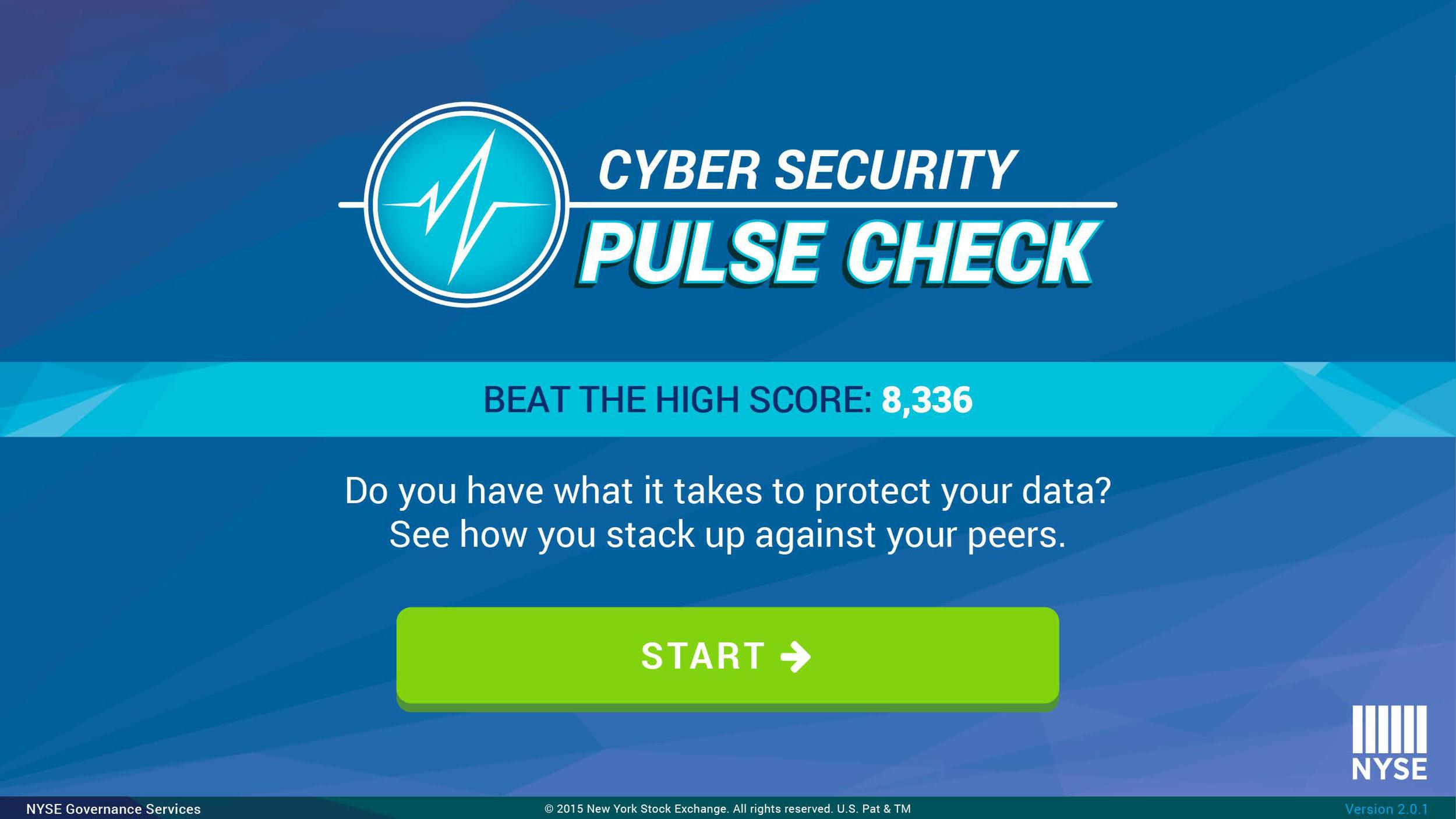 Pulse Check start screen
