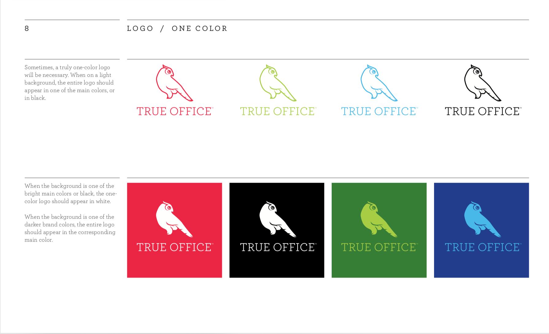 True Office single-color logo