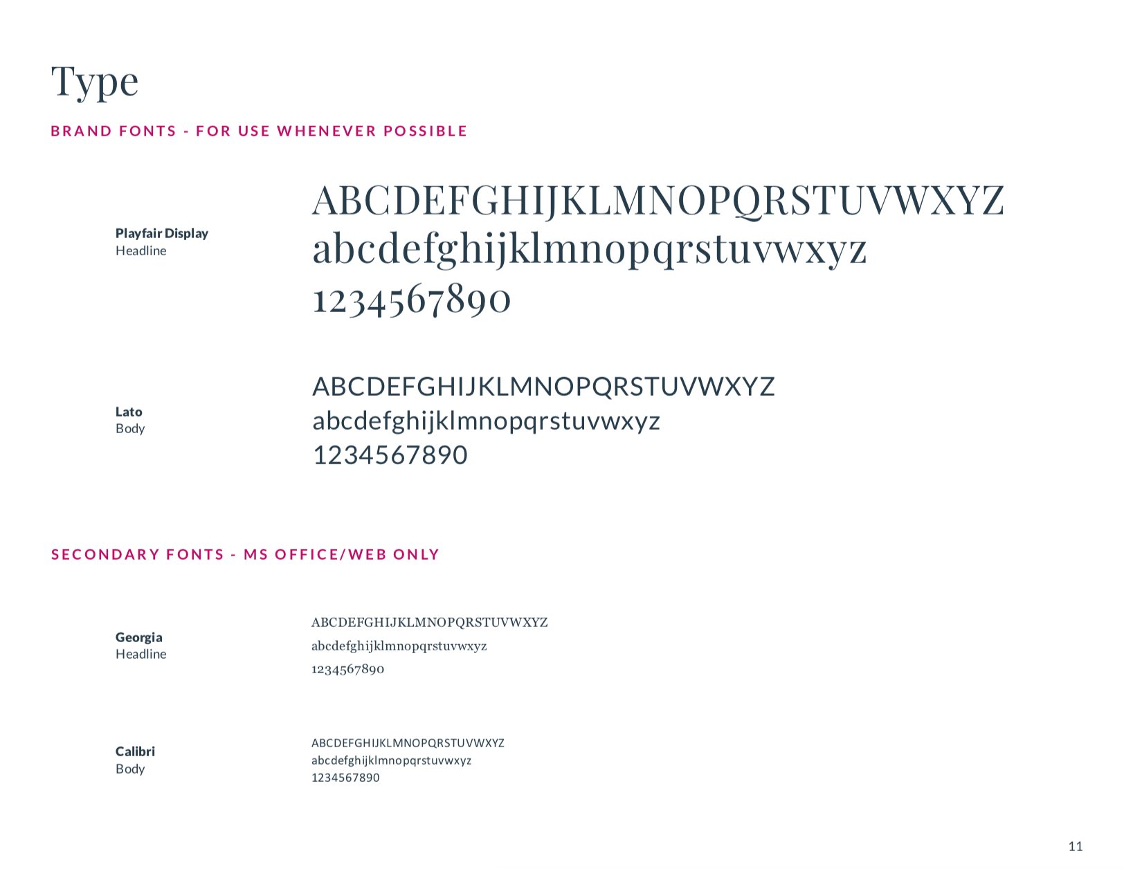 TOL typefaces