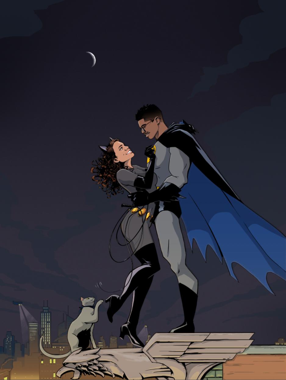 Bat-Wedding Poster/Guestbook