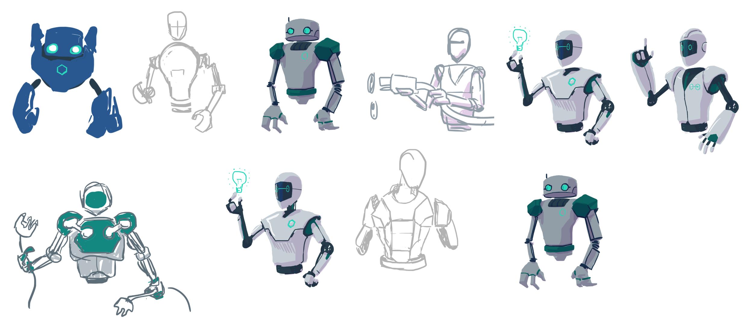 Exploring robot silhouettes