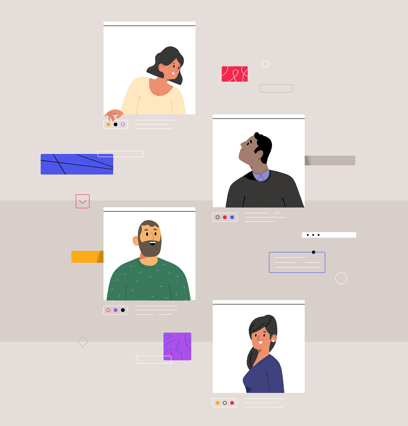 Nice illustrated people, Adobe!