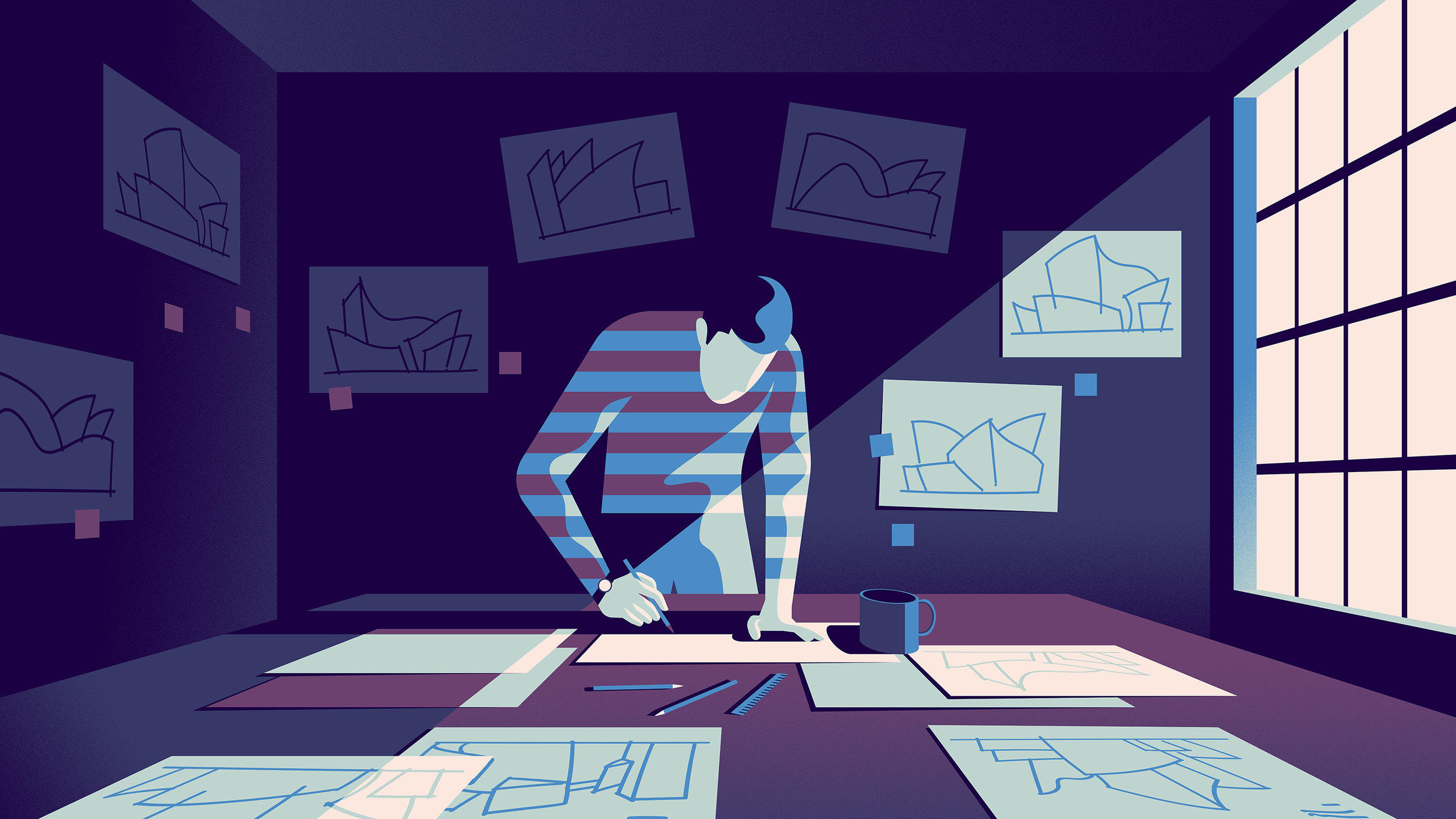 """Very """"moody"""" illustrations over at InVision."""