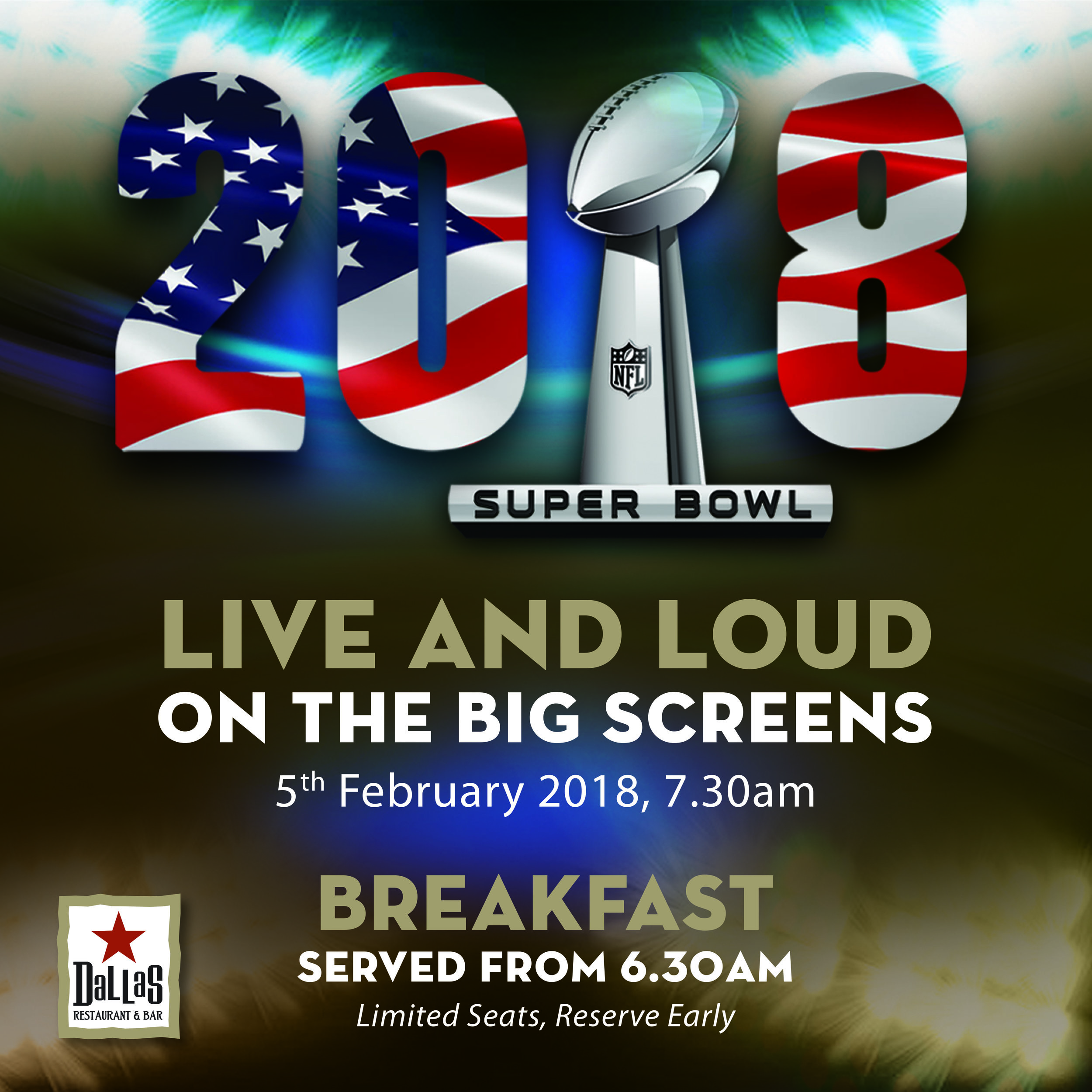Catch the hottest live sport on 5th Feb from 6.30am, serving hot piping breakfast and coffee!
