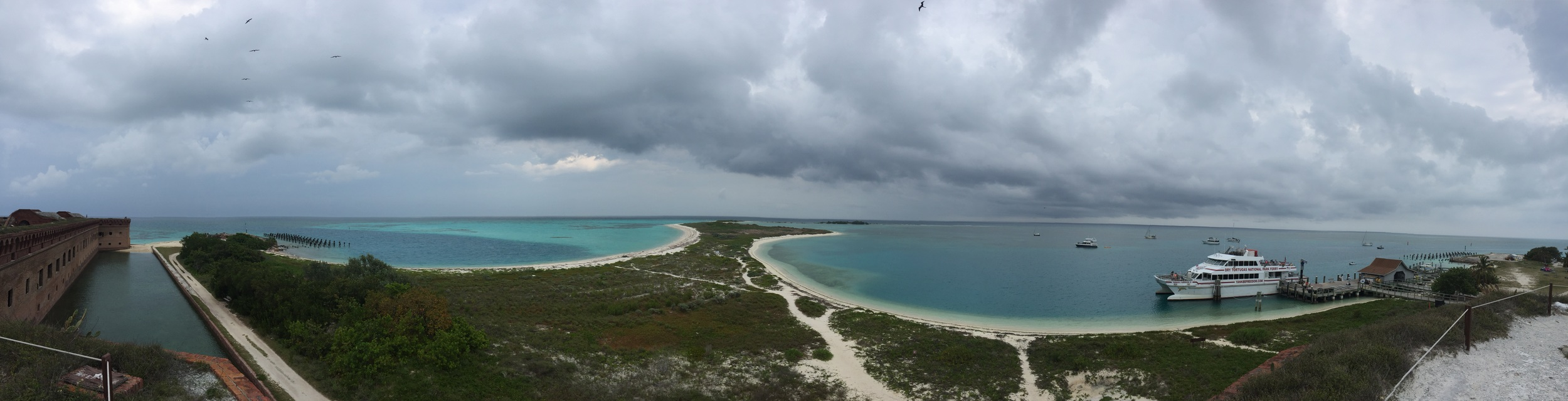 Panorama from the top of the fort. Click to view full screen!