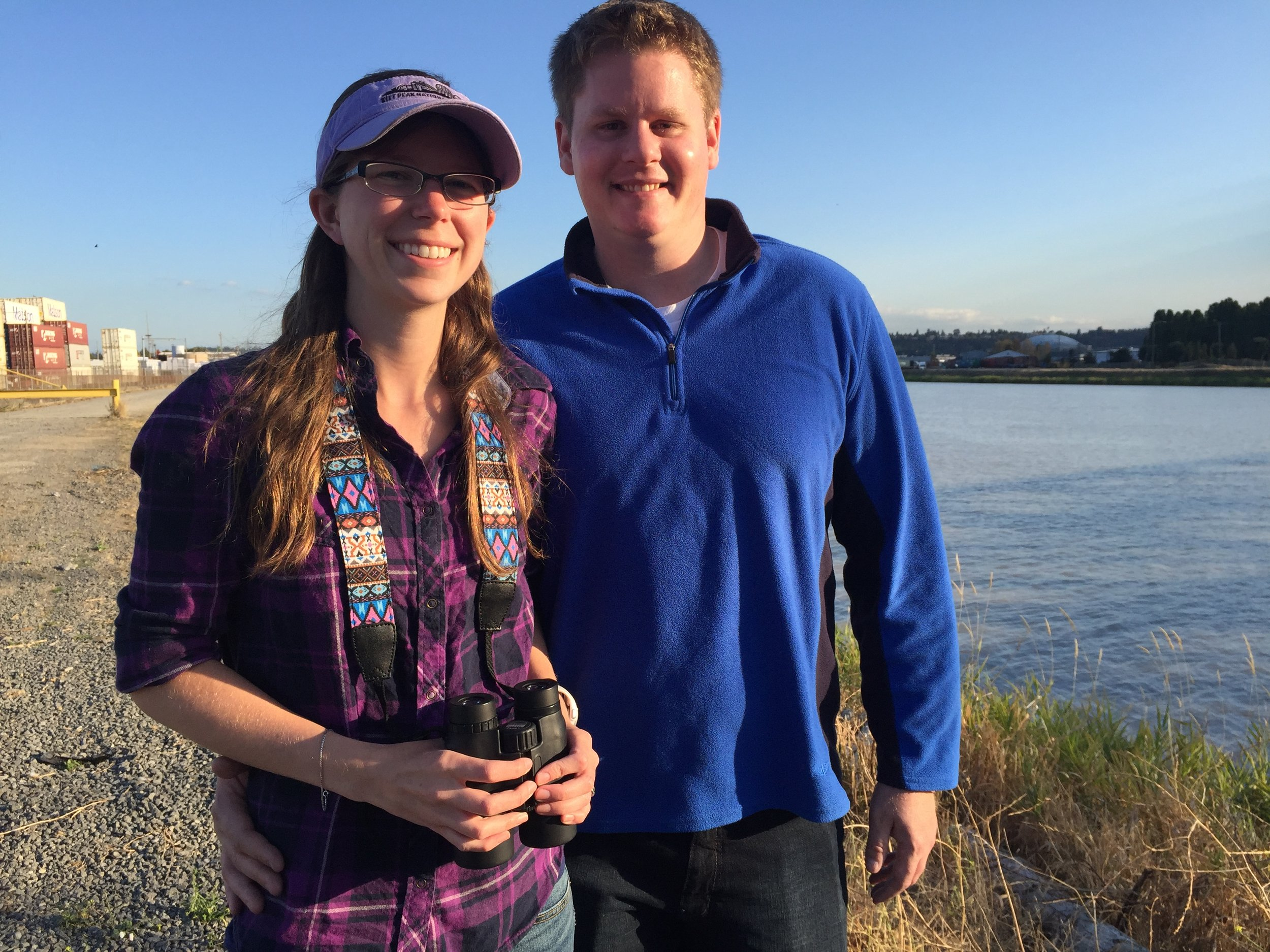 Today I birded with Meghin and Aaron along the Puyallup River in Tacoma, Washington.