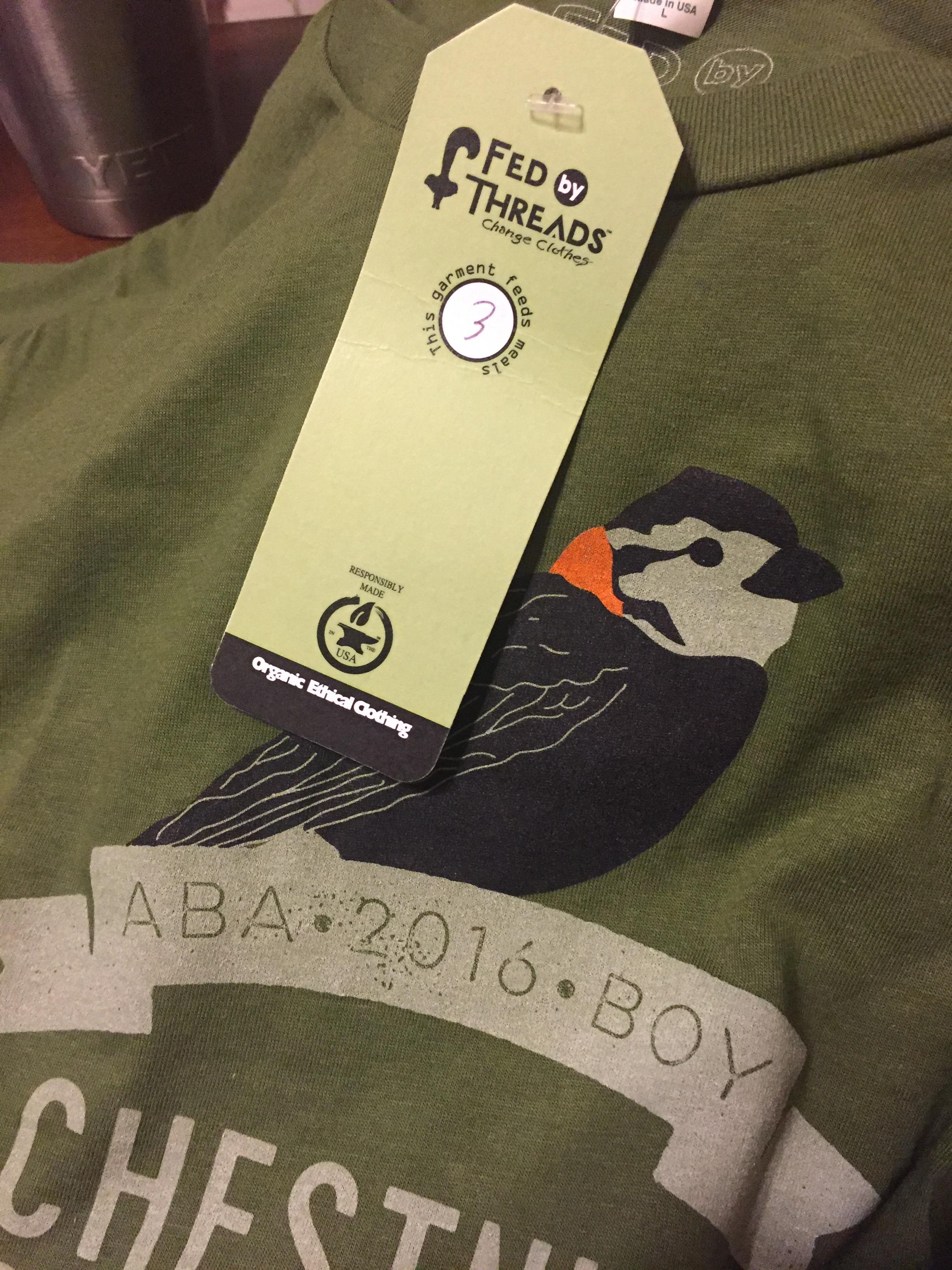 The 2016 ABA Bird of Year shirt!