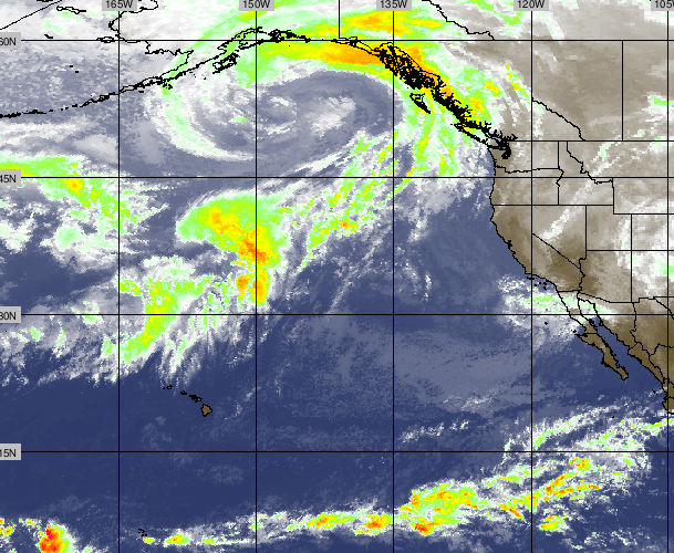 Active conditions and numerous storm systems continue out across the Pacific.