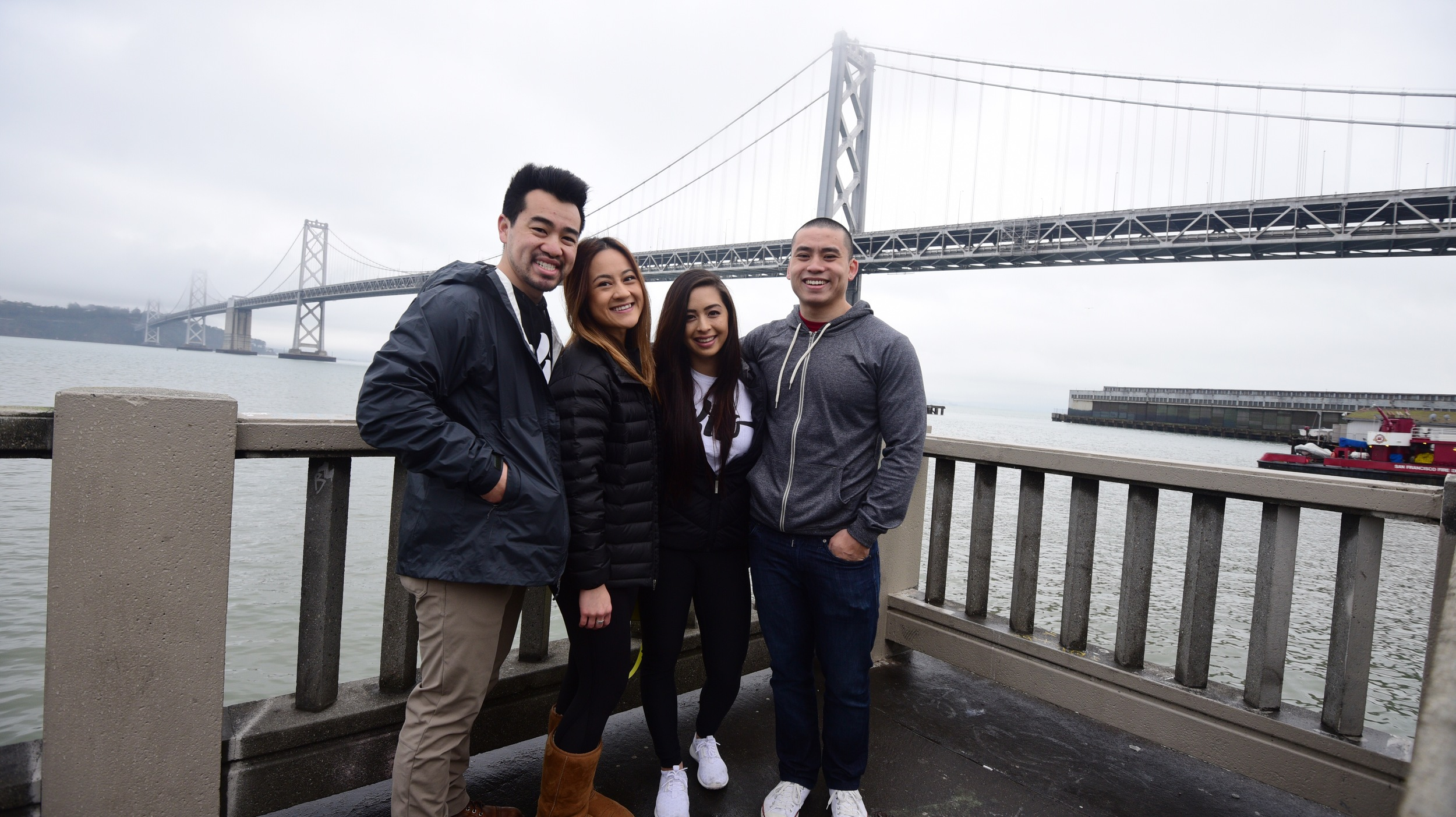 Bay Bridge with Beca and Daniel!