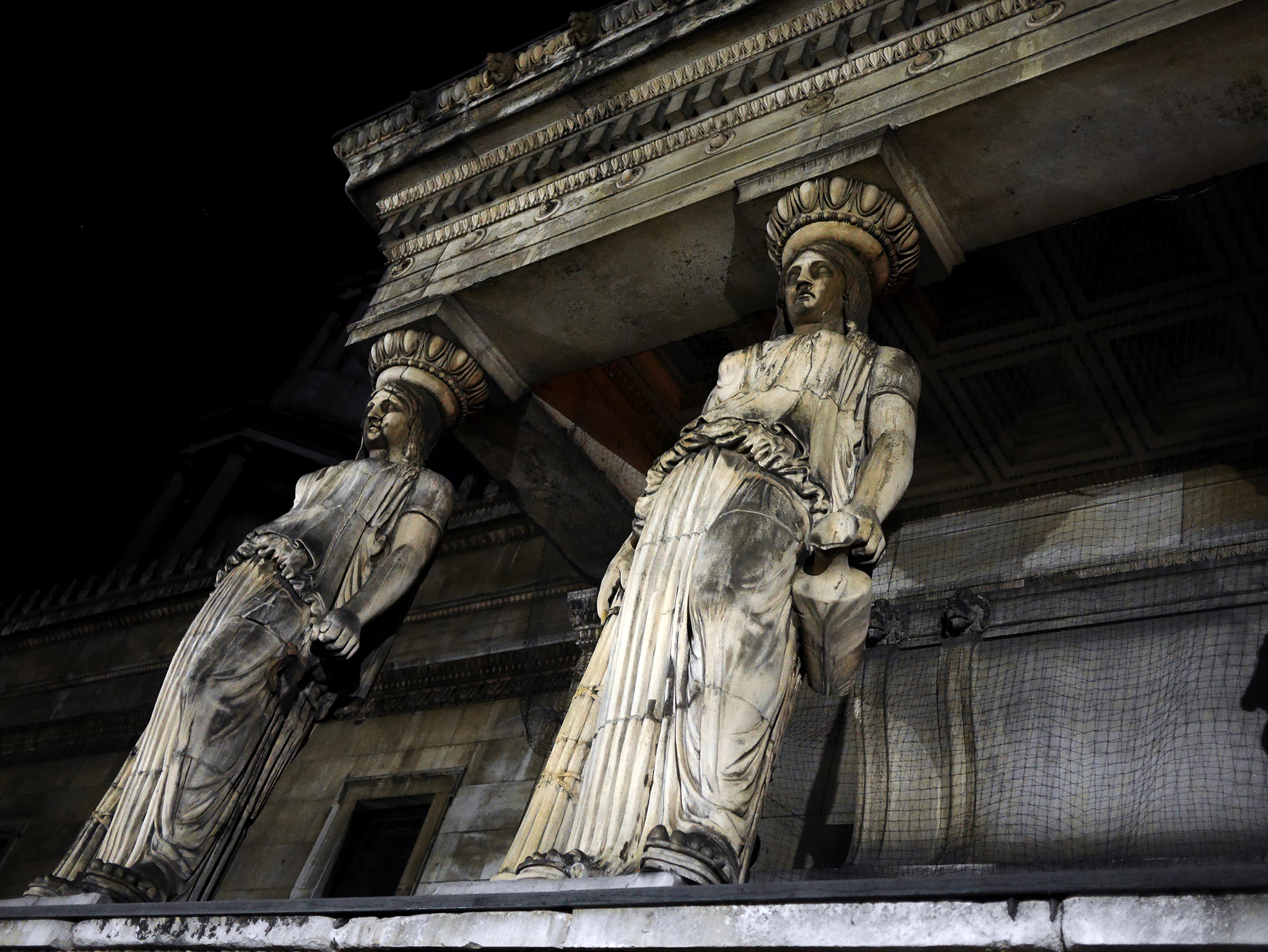 Caryatids guard the crypt