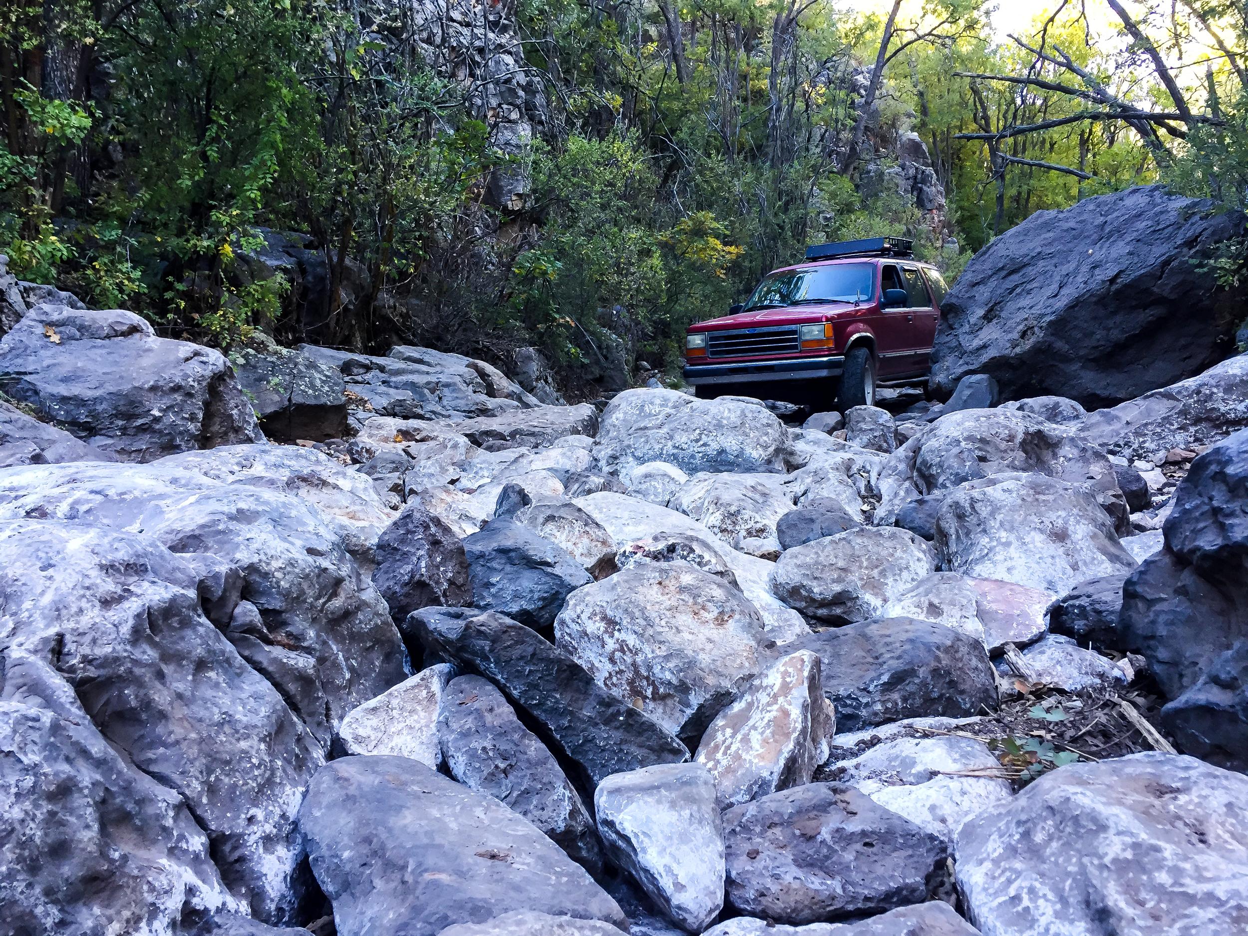 Smiley Rock Trail Boulder Gate 2