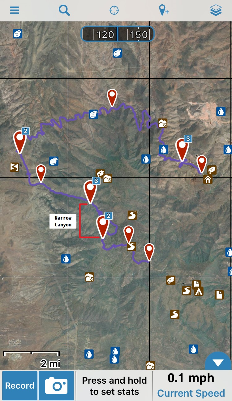 Smiley Rock Trail Map