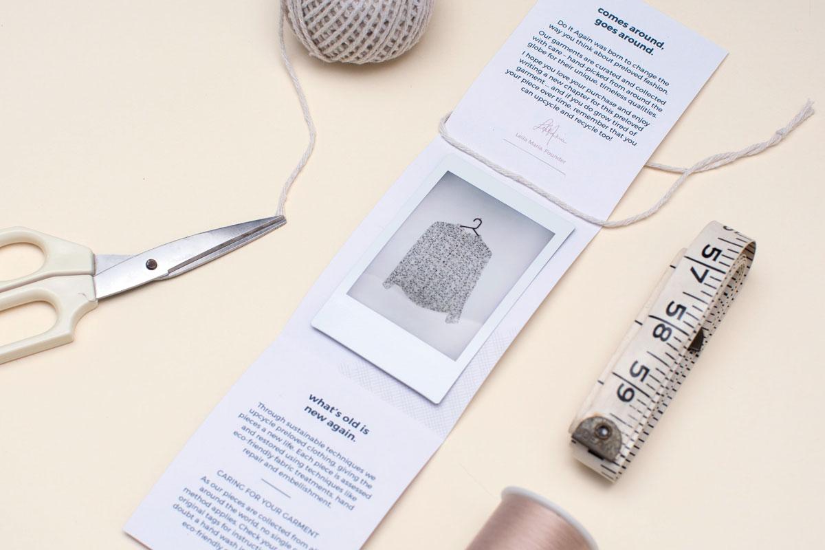 Do It Again preloved fashion branding Art-Work Agency