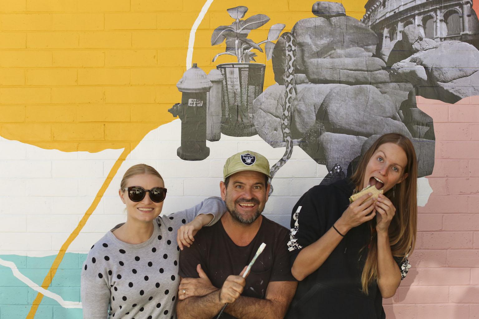 Laura Strange, Claudio Kirac and Sarah Huston representing Art-Work Agency for First Coat 2017