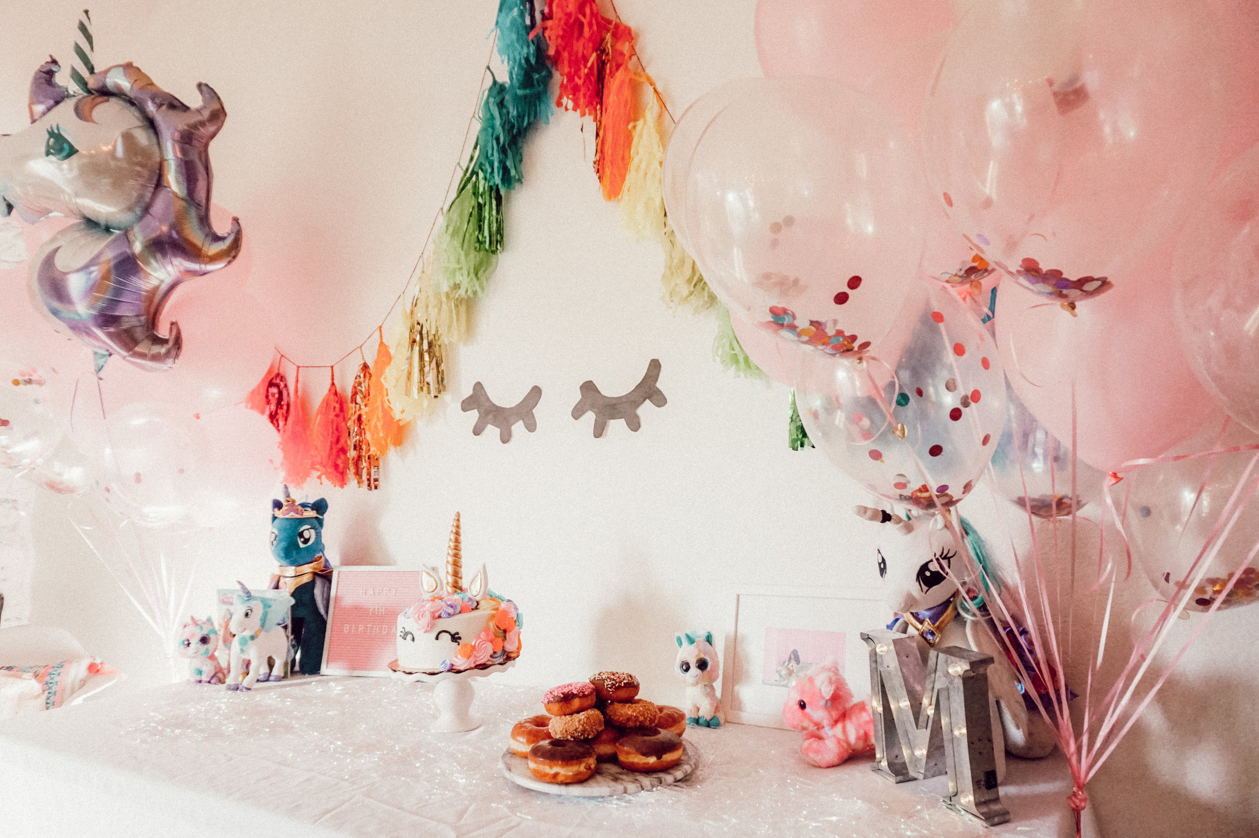 Pink's 7th Birthday Party! - Simple Unicorn Party.