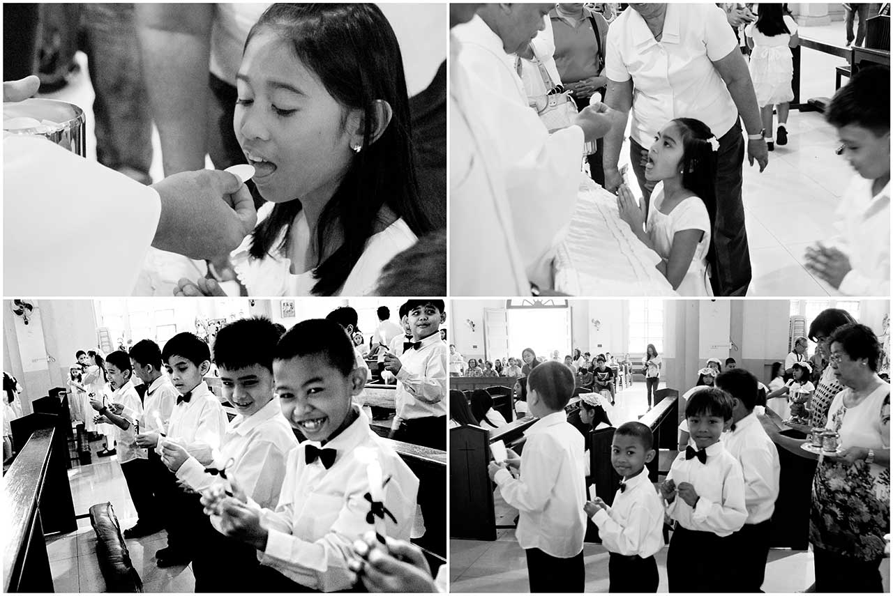 The First Communion brings closer the sacred mystery of Christ into the lives of our students. As a Catholic school, SFAMSC coordinates with the nearby Lady of Light Parish Church to prepare our Catholic students to receive their First Holy Communion.