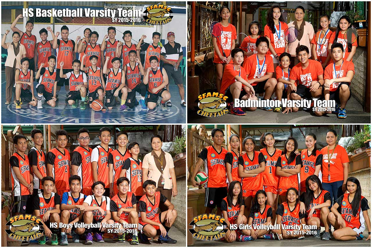 Discipline, teamwork, leadership and the appreciation for hard work are the benefits for becoming members of the SFAMSC Varsity Team. Regular members are given the chance to gain honor for the school through competition in various leagues and tournaments. We have basketball, volleyball, and badminton teams.