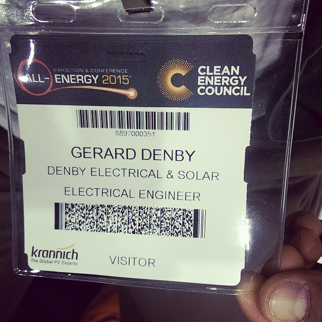 "Engineer they say... I'll take that for the two days of the #AllEnergy Conference 2015 in Melbourne this week. All things #renewable #sustainable and #cleanenergy biggest event.  This year is a particular special event with the #battery #storage revolution. A change to self-consumption and... ""from making money to saving money"" CEO of Clean Energy Council Australia  #solar #smartliving #savemoney 🌏 #environment"