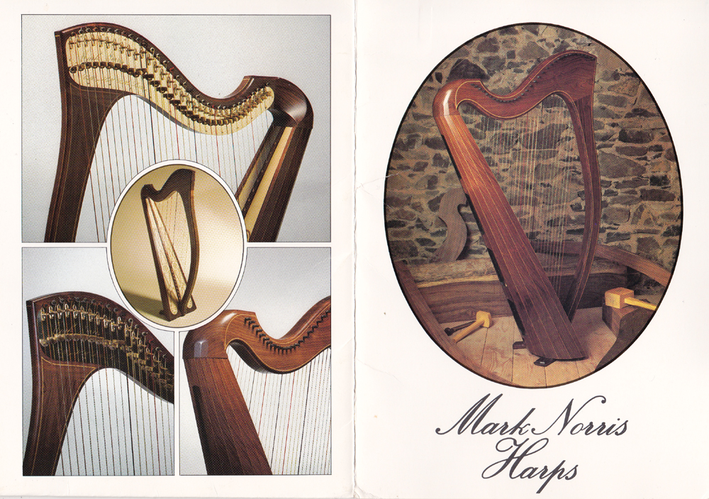 The first Norris Harps Brochure from 1982