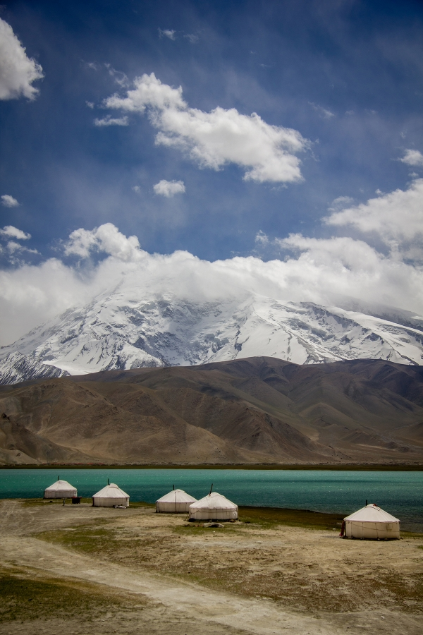 Karakol Lake, Xinjiang, China shot last year, and included in the Kyrgyzstan-Pakistan portion of  the latest Pannier.cc journal entry.