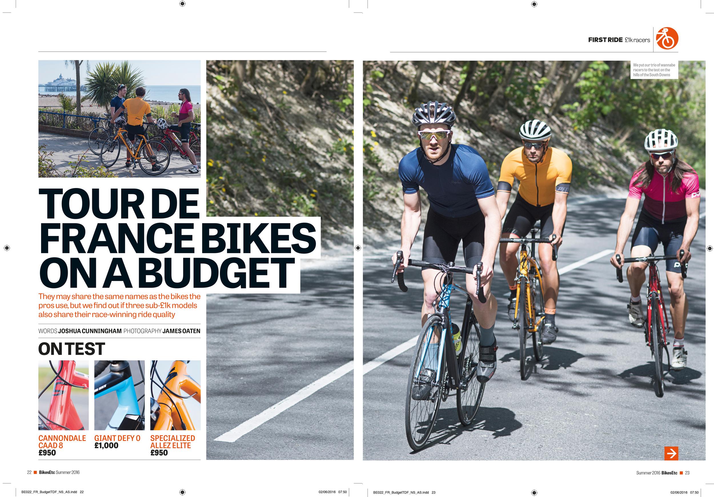 Budget Tour bikes test feature: Bikes Etc. Photography: James Oaten