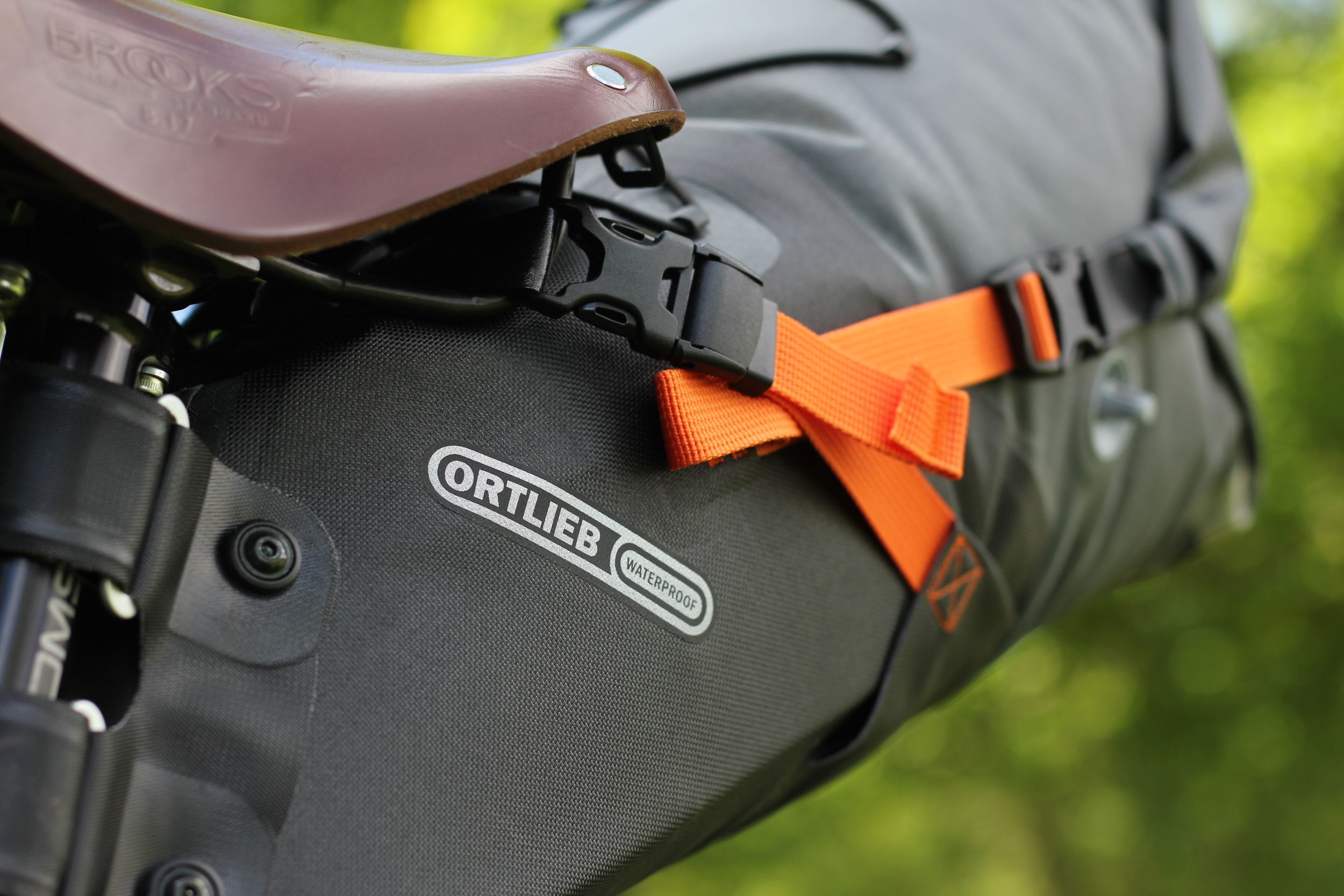 Shots of Ortlieb's new bikepacking luggage :  Pannier
