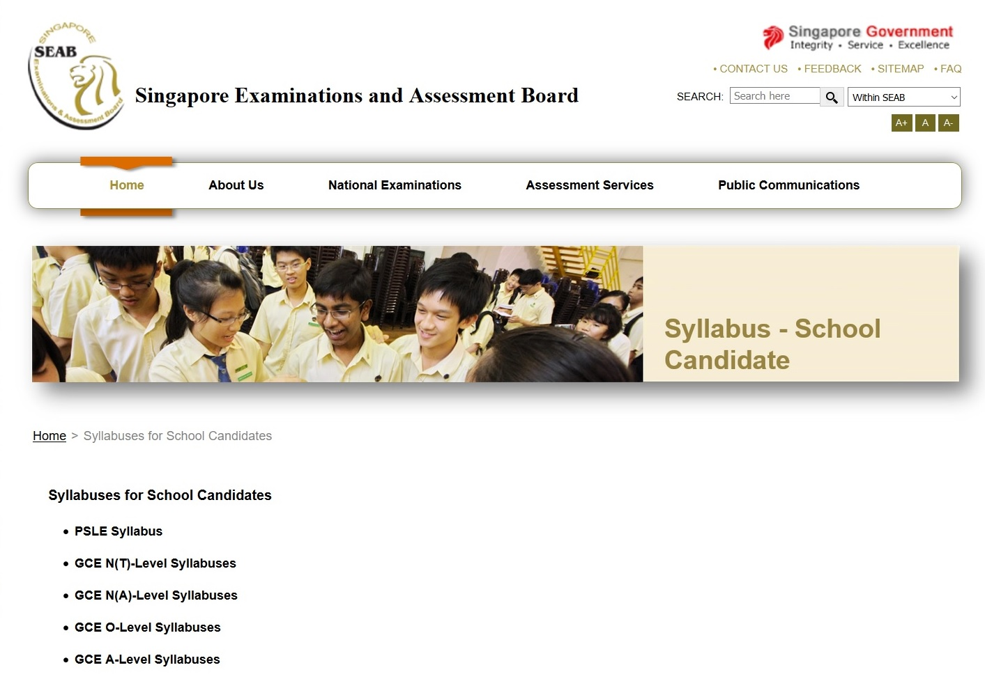 Singapore Examinations and Assessment Board Thumbnail