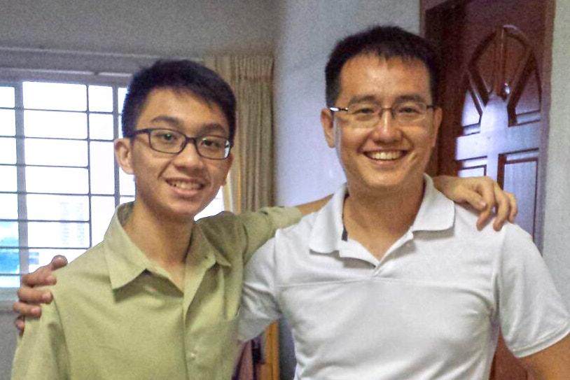 Trevor Tan with Mr Pan
