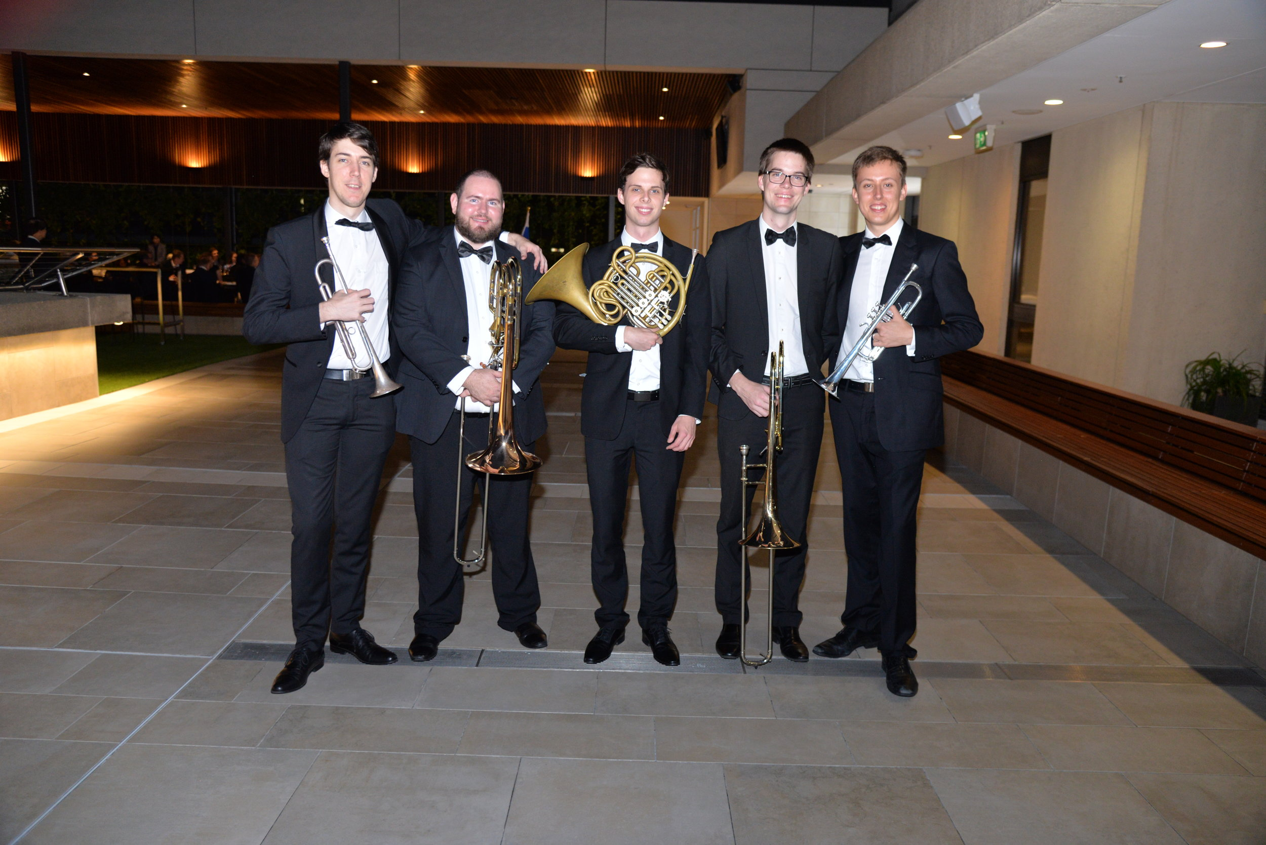 Left to Right: Patrick McKechie, Steven Port, Tim Allen-Ankins, Paul Black, Patrick Nowland