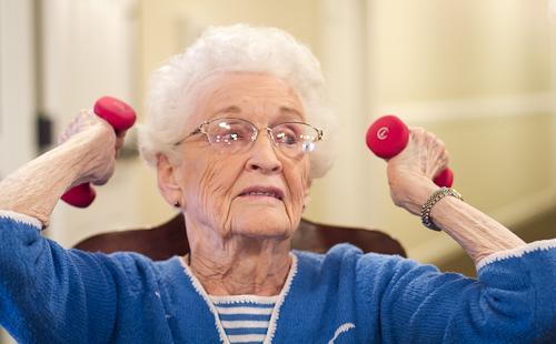 sittercize class, exercise for seniors, brasstown manor