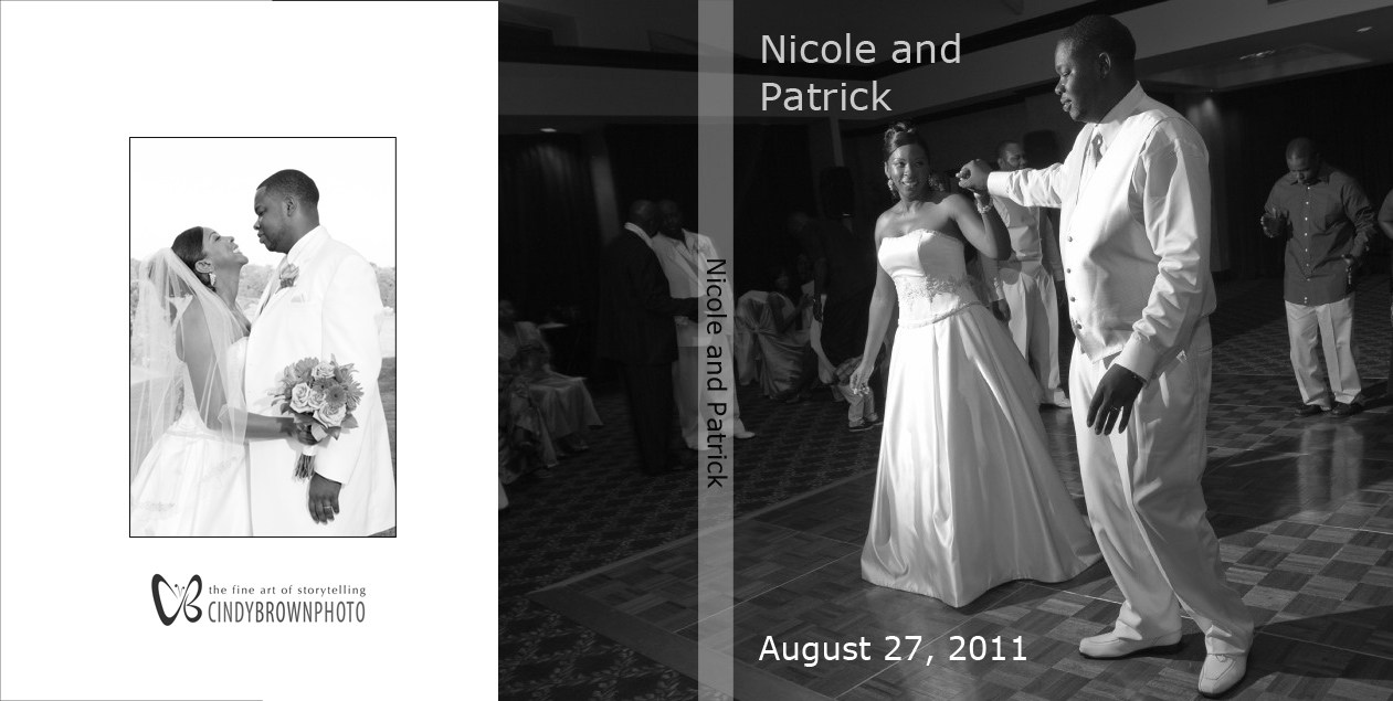 cover of coffee table book wedding album