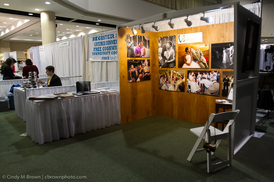 Booth at Bridal Show - Photographer