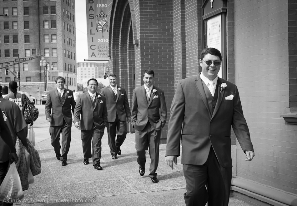 Groomsmen at Catholic Wedding