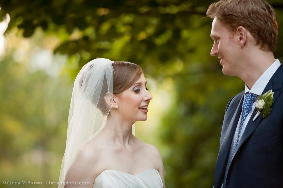 Botanical Gardens Bride and Groom
