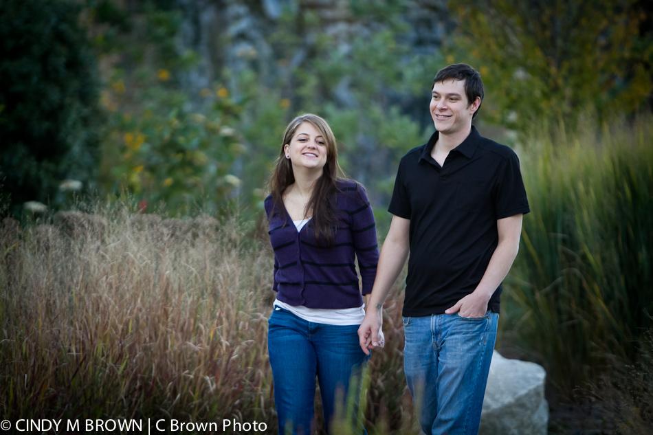Engagement Photos in park near downtown Atlanta