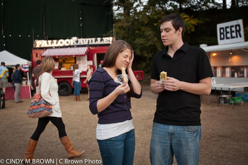 Sharing King of Pops Popsicyles at Engagement Safari