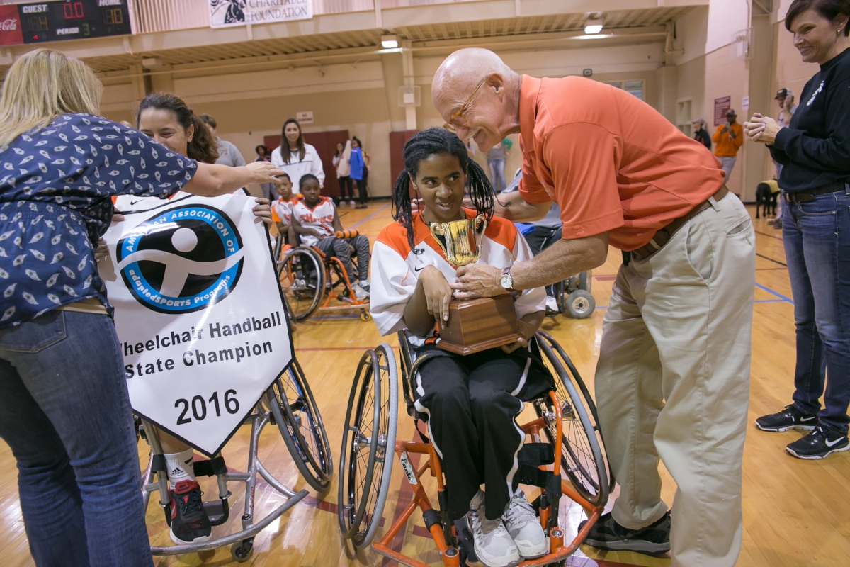 The Houston Sharks took home the championship trophy.